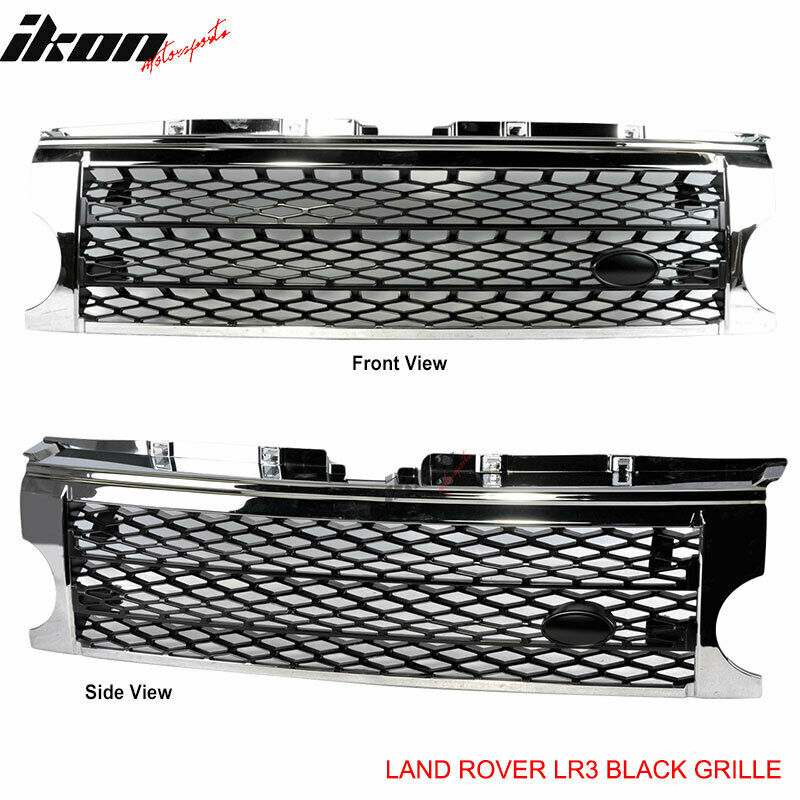 05-09 Land Rover Discovery 3 Chrome Black Grille Grill LR3