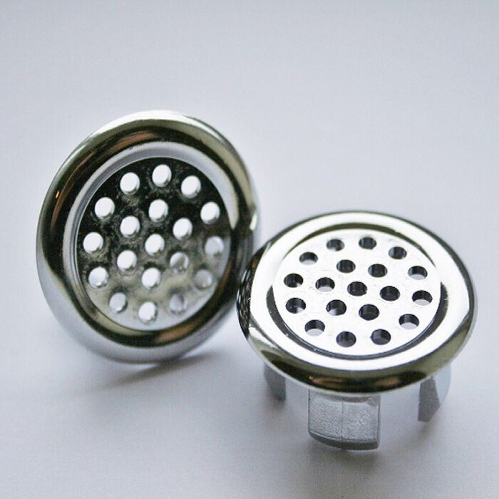 Bathroom Basin Ceramic Sink 2x Slotted Hole Overflow Cover