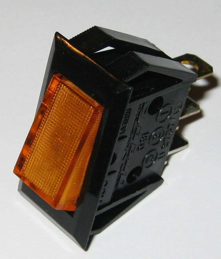 Dreefs Illuminated Rocker Switch Spst 125v 25a Lighted Amber Snap In