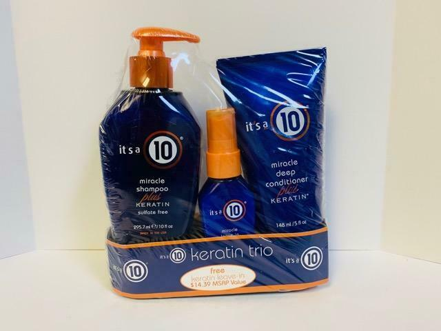 its it 39 s a 10 hair miracle shampoo conditioner leave in plus keratin trio set ebay. Black Bedroom Furniture Sets. Home Design Ideas