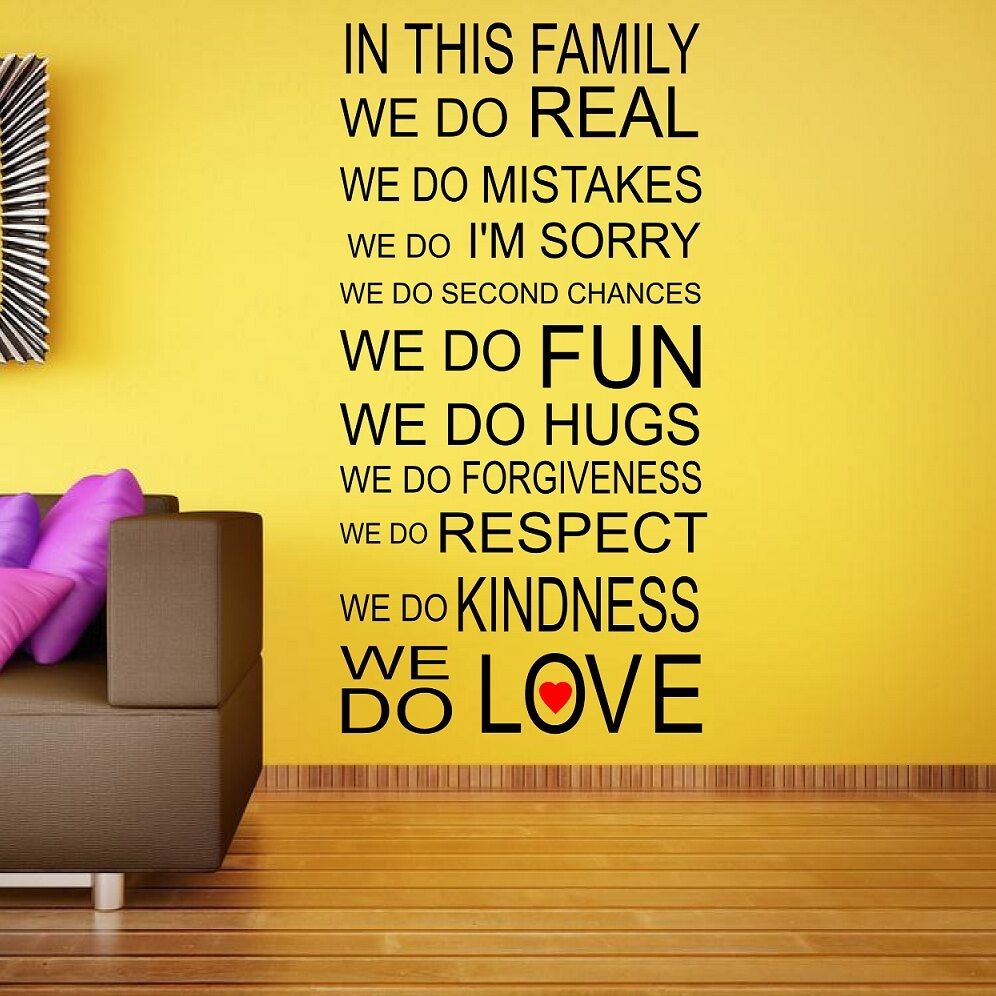 In This Family We Do Wall Decal - Elitflat