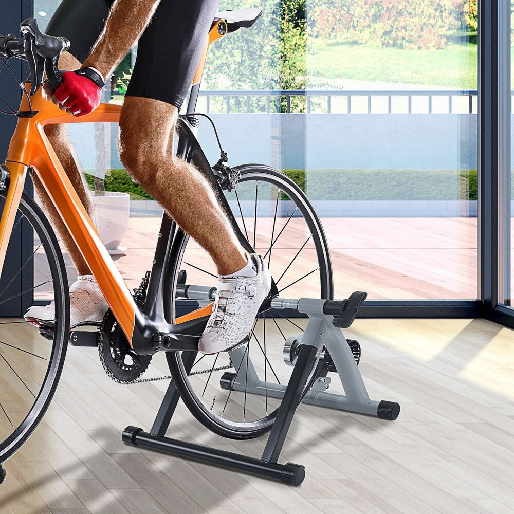 Bike Trainer En Francais: Bicycle Bike Trainer Stand Indoor Exercise Workout