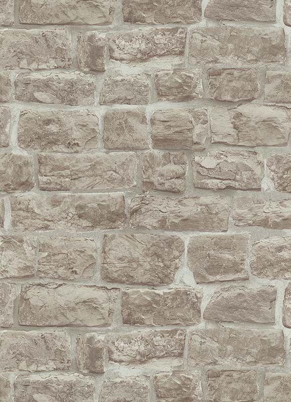 Erismann rustic brick stone effect wallpaper beige 5818 for Black 3d brick wallpaper