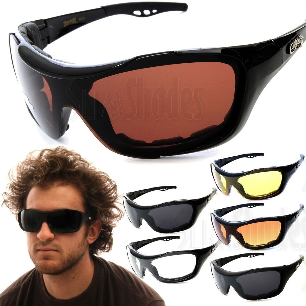 57c57639bbe Details about Chopper Oversized Wind Resistant Sports Sunglasses Motorcycle  Riding Glasses