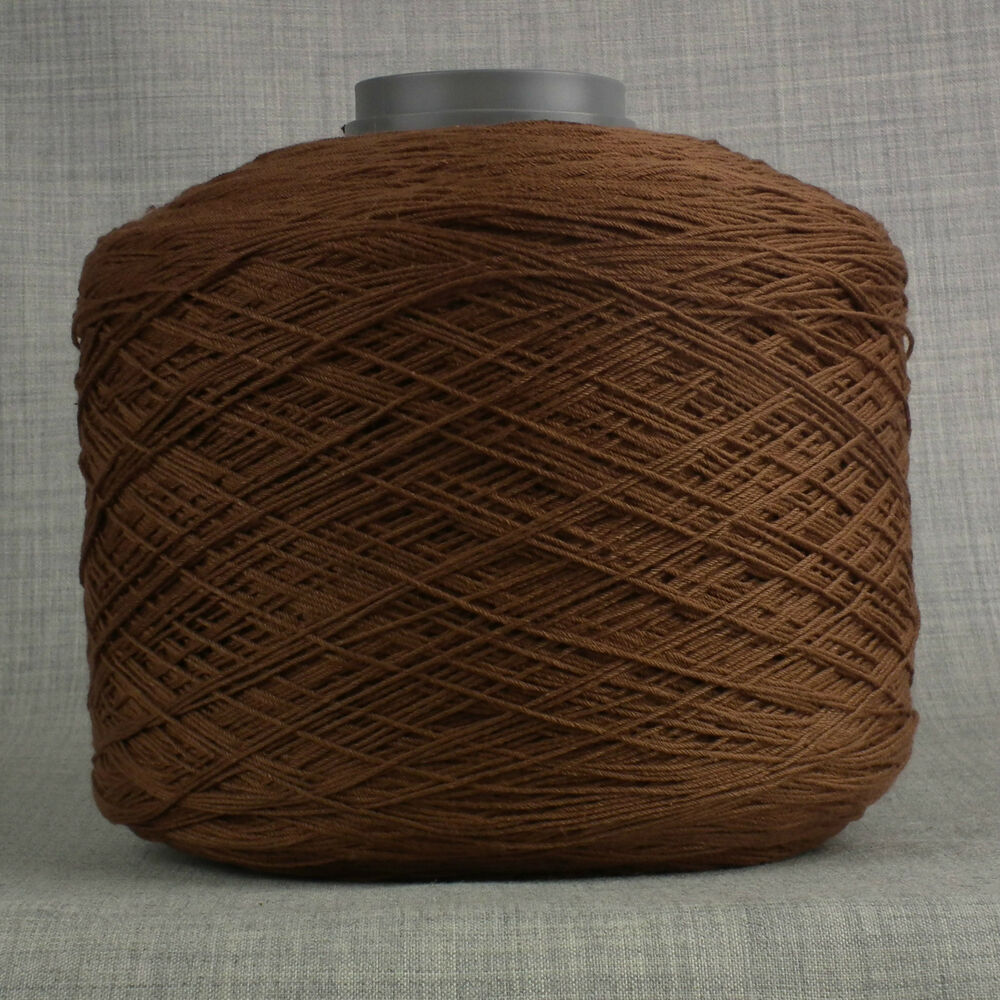 3200mtr HEAVY DUTY GLACE 8s THICK SEWING THREAD BROWN