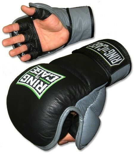 how to put on mma gloves