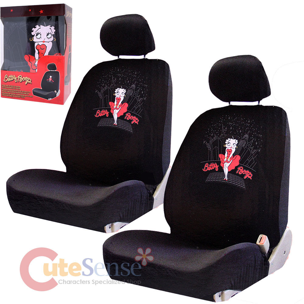 Betty Boop Car Seat Cover Auto Car Accessories Set 4pc Low