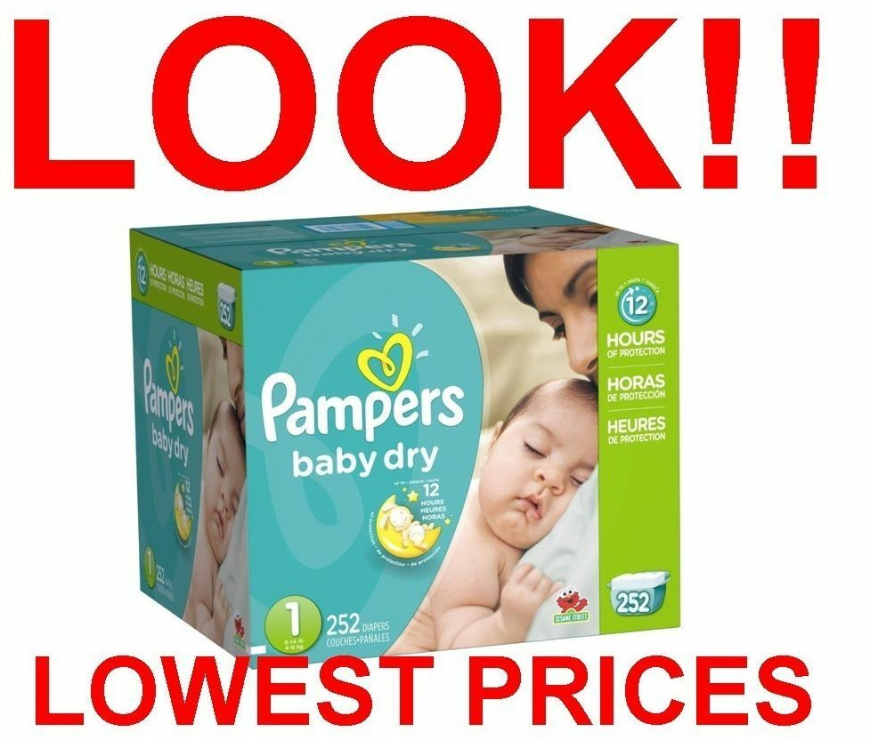 Bulk Up To 1 104 Count Pampers Baby Dry Diapers Size 0