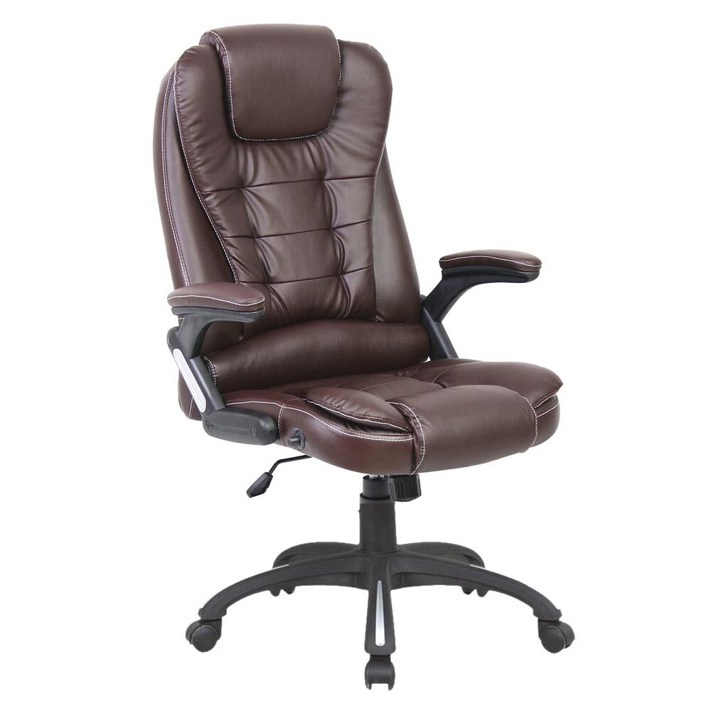 Deluxe Reclining Office Chair Executive Home Computer Desk