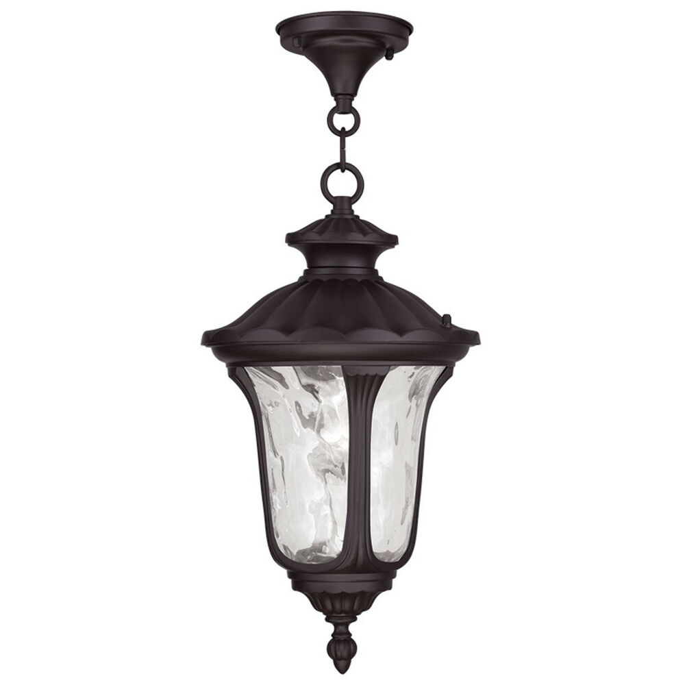 Porch Light Pendant: Large Livex Oxford Light Outdoor Porch Hanging Pendant
