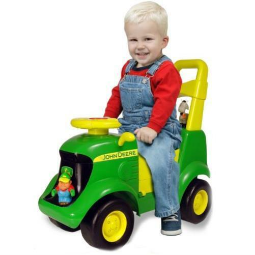 kids ride on toy john deere sitnscoot activity tractor new car gift ebay. Black Bedroom Furniture Sets. Home Design Ideas