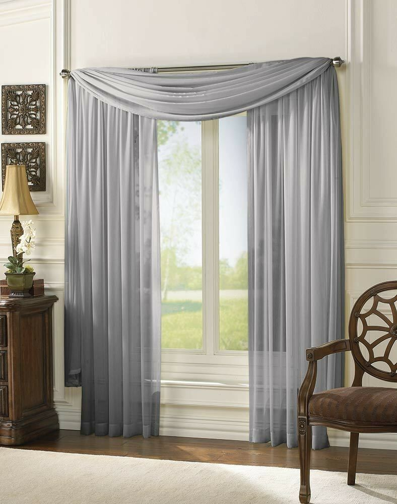 Sheer Scarf Window Treatments Curtains Drape Valances 63