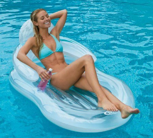 Intex Floating Comfort Lounge Inflatable Float Pool Chair