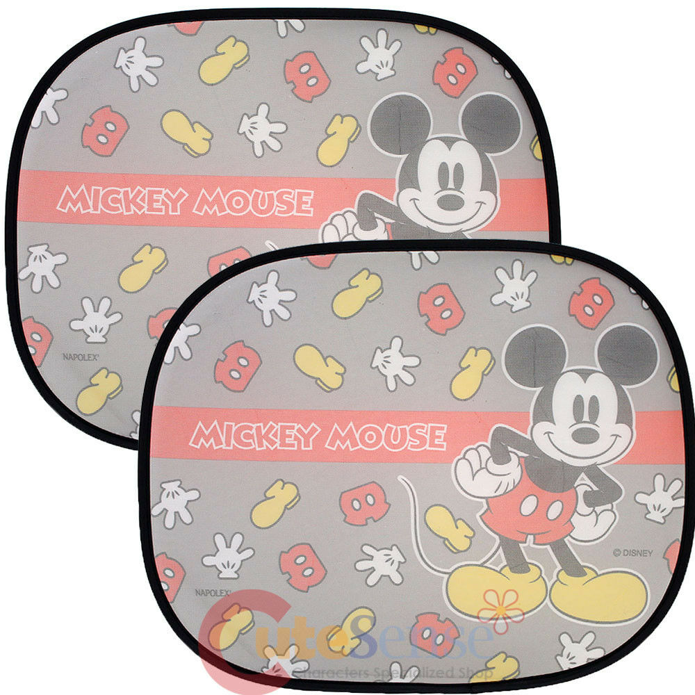 disney mickey mouse rare window sun shade mesh shade 2pc auto accessories ebay. Black Bedroom Furniture Sets. Home Design Ideas