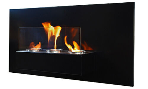 bio ethanol kamin gelkamin rabea deluxe schwarz wandkamin sicherheitsglas ebay. Black Bedroom Furniture Sets. Home Design Ideas