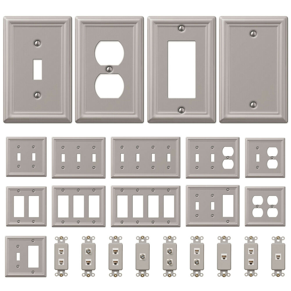 Wall Switch Plate Outlet Cover Toggle Duplex Rocker