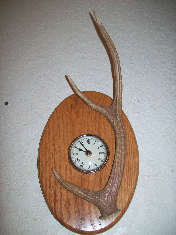 Unique Hand Crafted Oak Wood Amp Sika Deer Antler Antlers