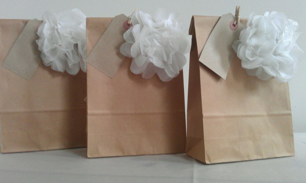 Personalised Wedding Favour Paper Bags : Personalised Vintage Brown Paper Wedding Favour bag/Christening/ Party ...