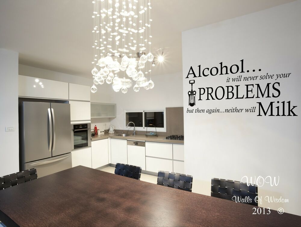 Family home quote rules vinyl wall art sticker mural decal home - Alcohol Problems Funny Adult Quote Wall Sticker Wall Art