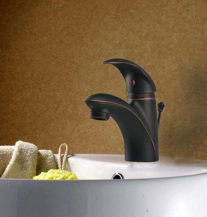 Single Hole Oil Rubbed Bronze Bathroom Lav Sink Faucet W Matching Pop Up Drain Ebay
