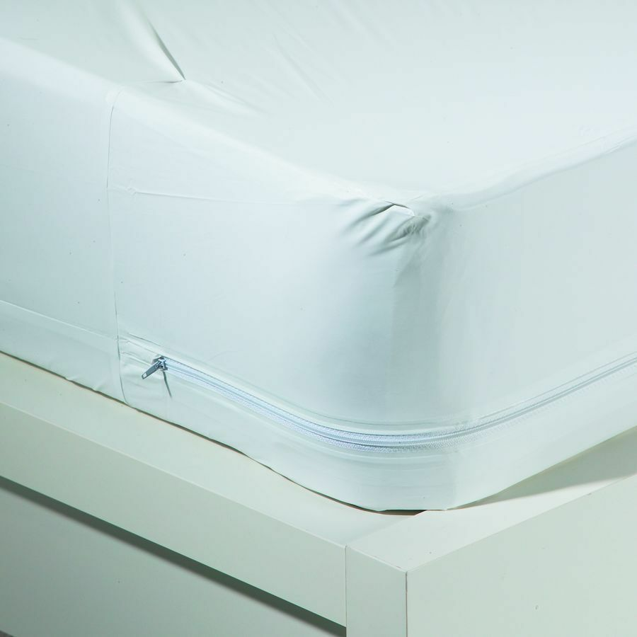 bed bug waterproof zippered vinyl mattress cover protector