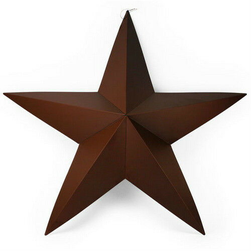 "24"" BROWN METAL STAR home wall decor metal indoor outdoor ..."