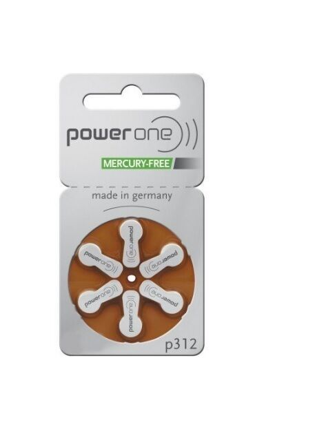 60 PowerOne Hearing Aid Batteries PR41, p312, Size 312 New ...