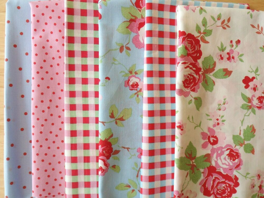 Cath Kidston Fabric 12 Remnant Pieces Layer Cake Patchwork