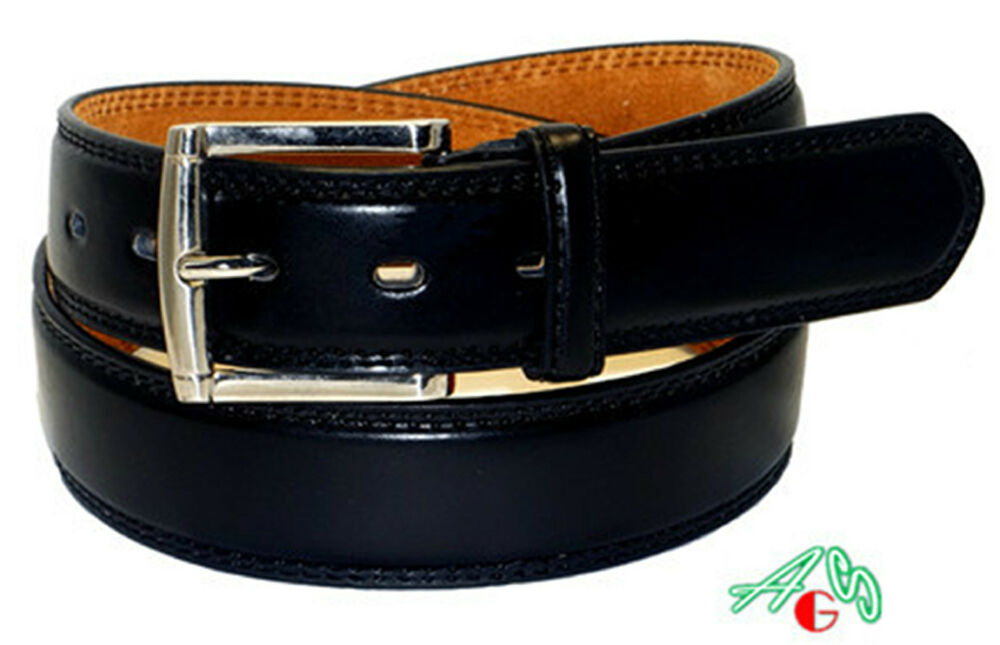 big casual dress leather belt black sizes avail 46