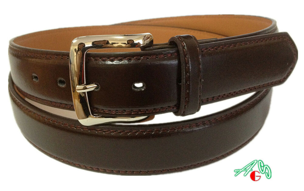 big casual dress leather belt brown sizes 48 52 56