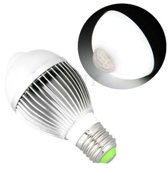 e27 led light bulb with motion sensor energy saving lamp. Black Bedroom Furniture Sets. Home Design Ideas
