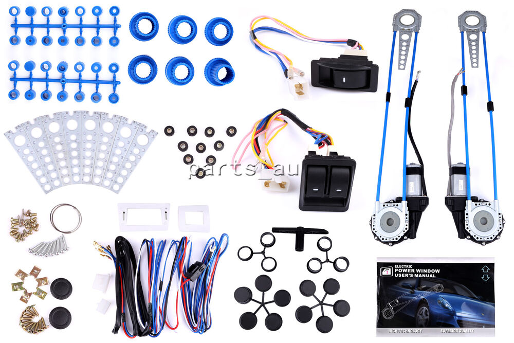 details about new style universal power window kits fit any vehicles with  2-doors, 12v
