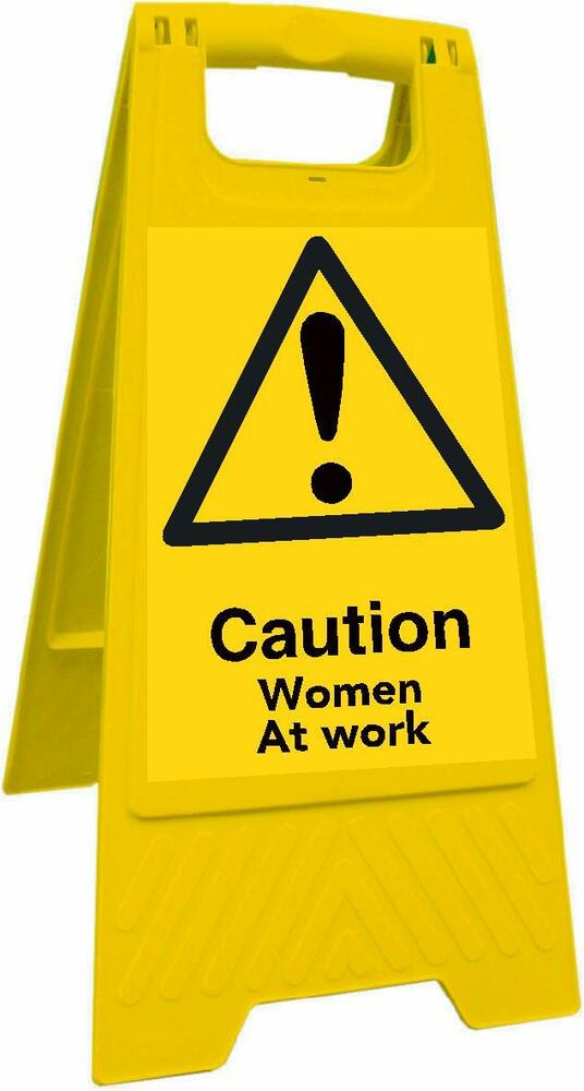 Caution Women At Work (Health And Safety Sign) | eBay