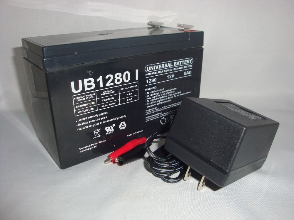 12volt 8 hour rechargeable sealed 12v 8ah battery ac charger 806593457432 ebay