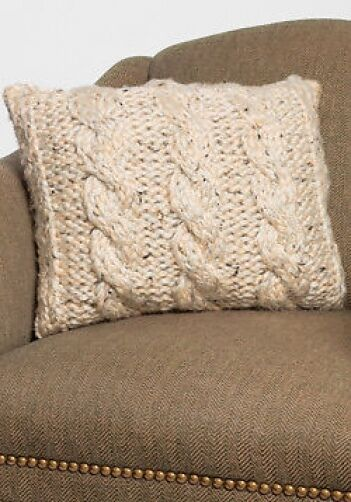 Chunky Knit Pillow Pattern : chunky cable pillow knitting pattern 99p eBay