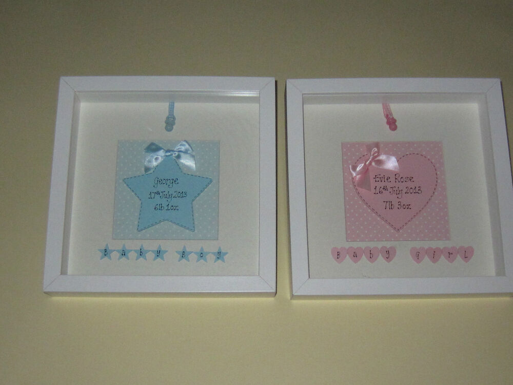 New Baby Personalised Picture Gift Name Date Weight