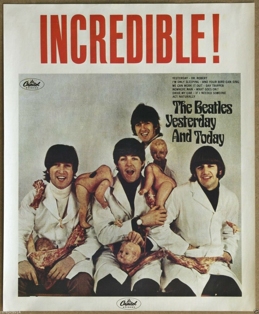 the beatles original yesterday and today rare vintage butcher cover promo poster ebay. Black Bedroom Furniture Sets. Home Design Ideas