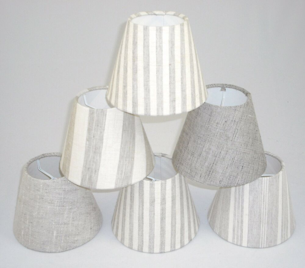 candle lampshades handmade in uk linen fabric ebay. Black Bedroom Furniture Sets. Home Design Ideas
