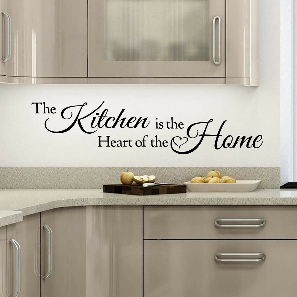 Wall Quotes Art The Kitchen Is A Heart Of The Home Wall