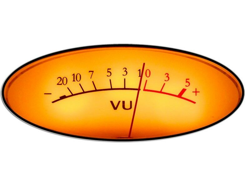 3x5 inch oval vintage vu meter sticker music gift recording engineer