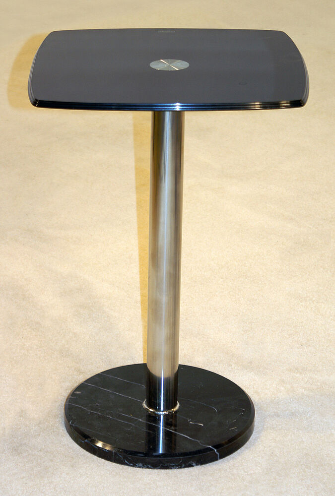 orsett black glass with marble base lamp side end coffee table ebay. Black Bedroom Furniture Sets. Home Design Ideas