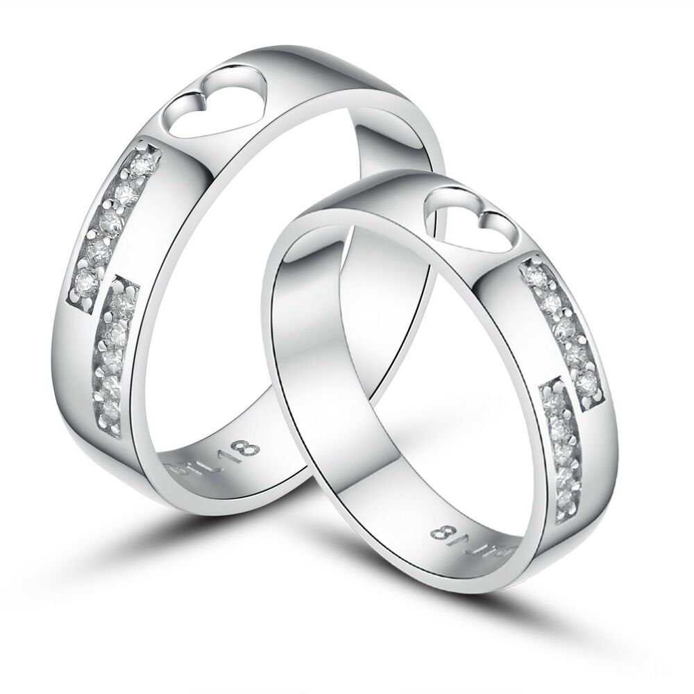 his and hers certified sterling silver promise rings