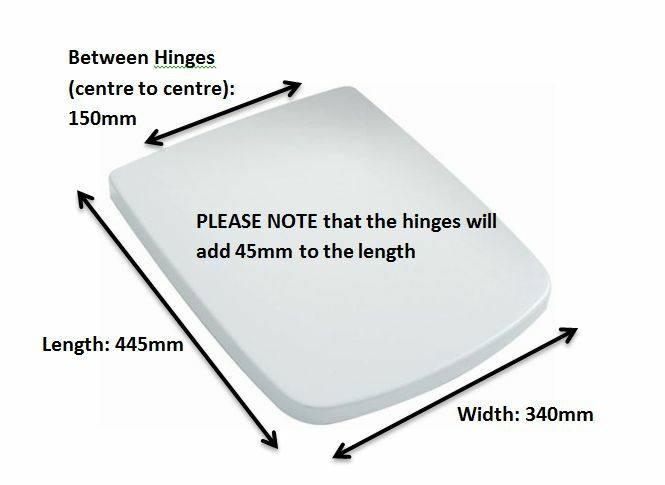 Top Fixing Soft Close Square Toilet Seat Fitting From Above The Toilet Pan