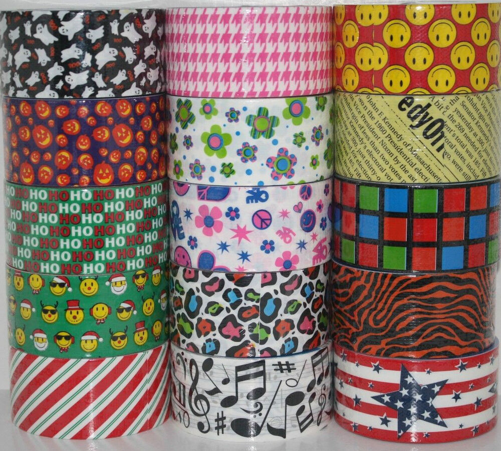 You Pick JFL Brand Duct Tape Rolls!! Prints & Patterns Duck Tape Just For Laughs | eBay