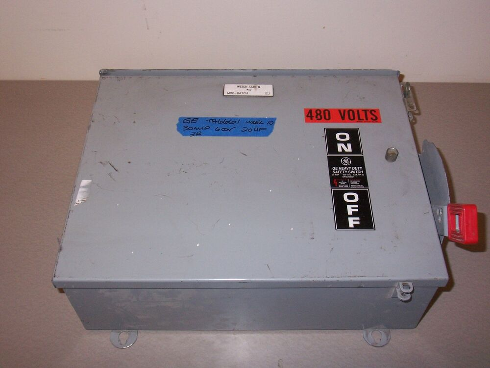 Ge Th6661 6 Pole 30 Amp 600v 3r Fusible Fused Safety