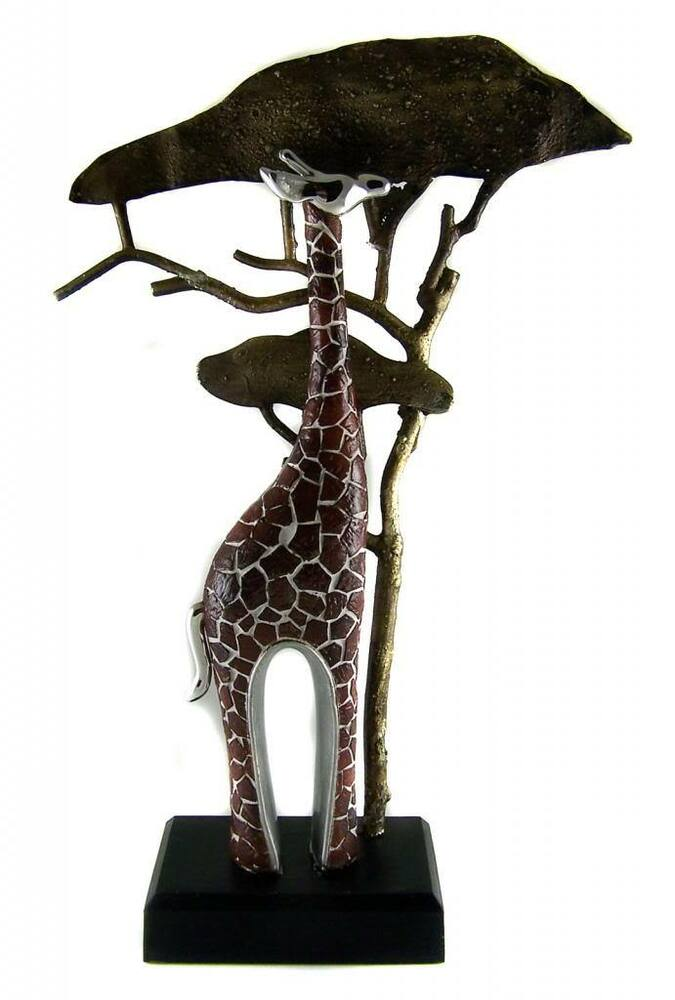 Home decor gift giraffe figurine statue 33cm tall Eba home interior figurines