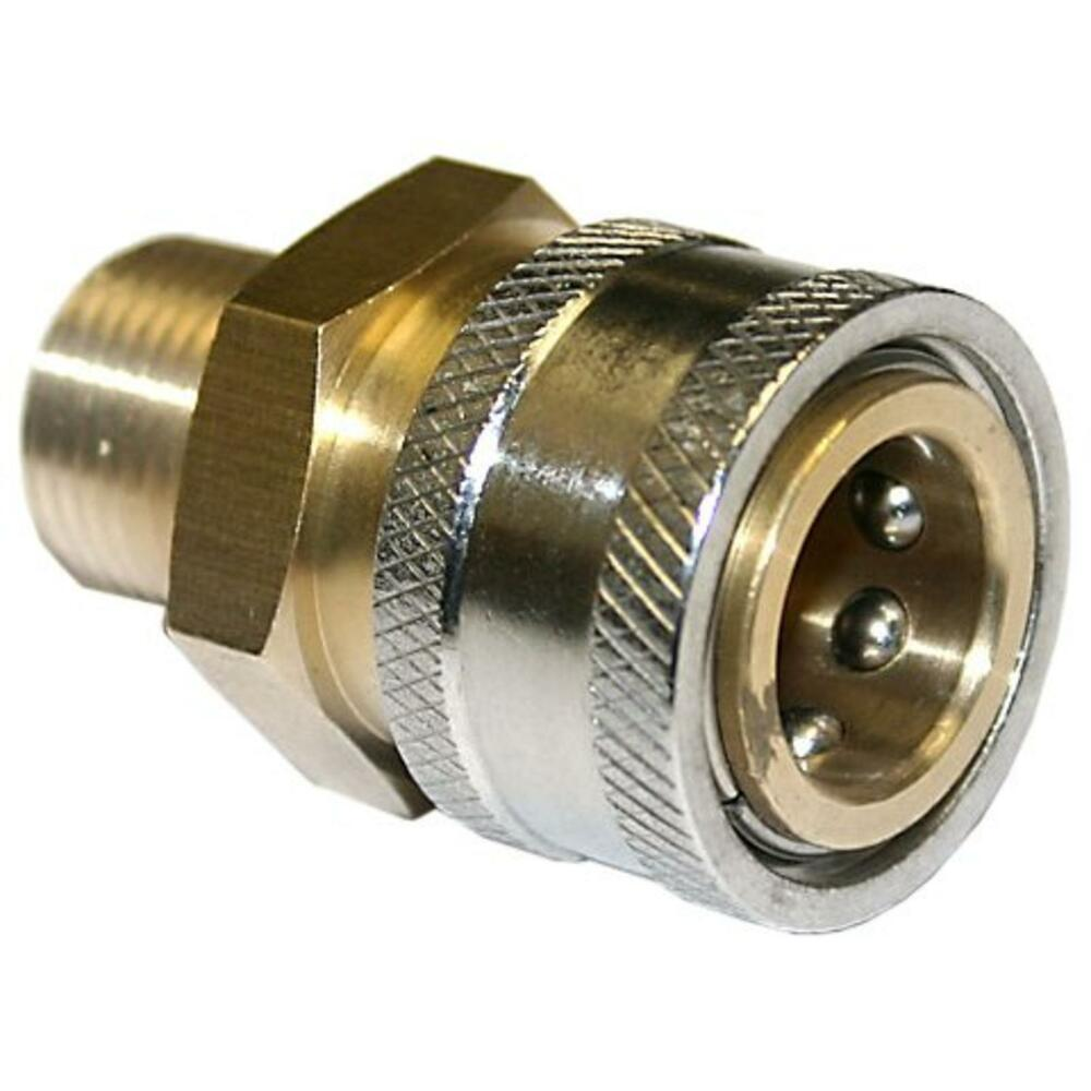 Pressure washer brass quick connect socket mpt