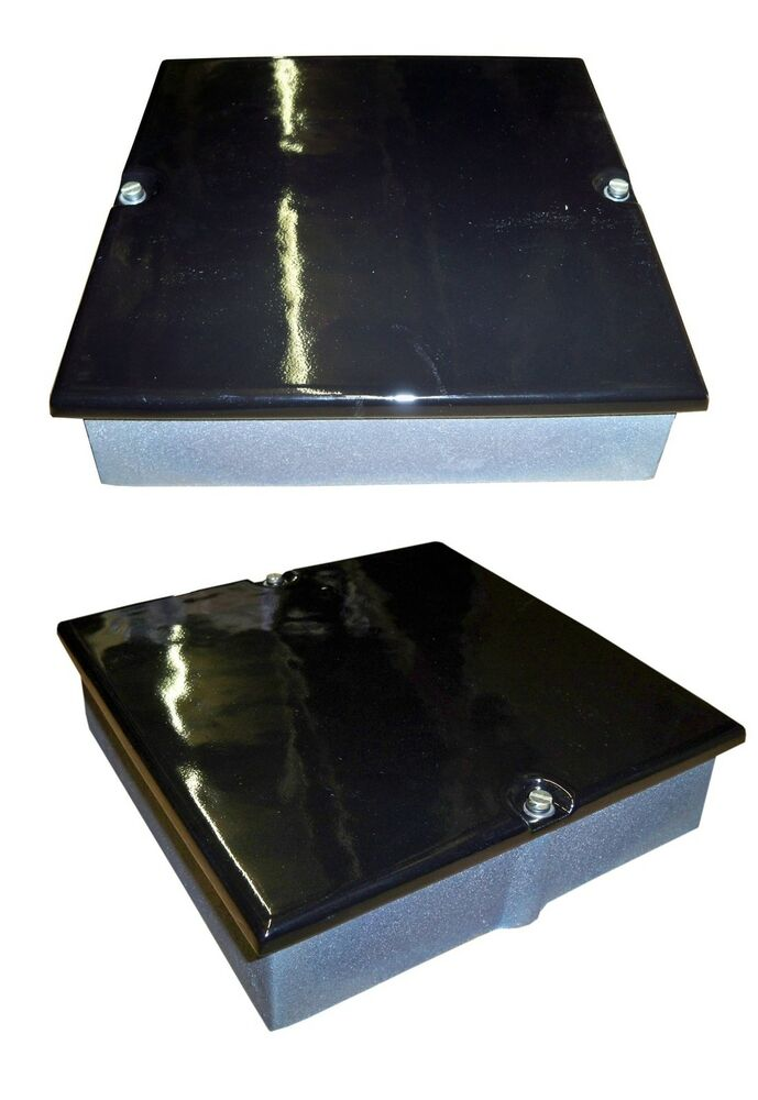 9 X 9 Enamel Gloss Black Soot Door Box Chimney Inspection