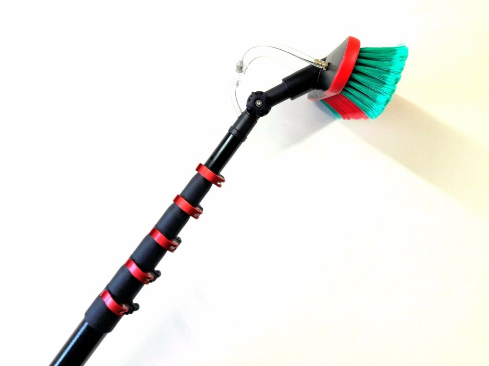 30ft Water Fed Telescopic Window Cleaning Pole Brush