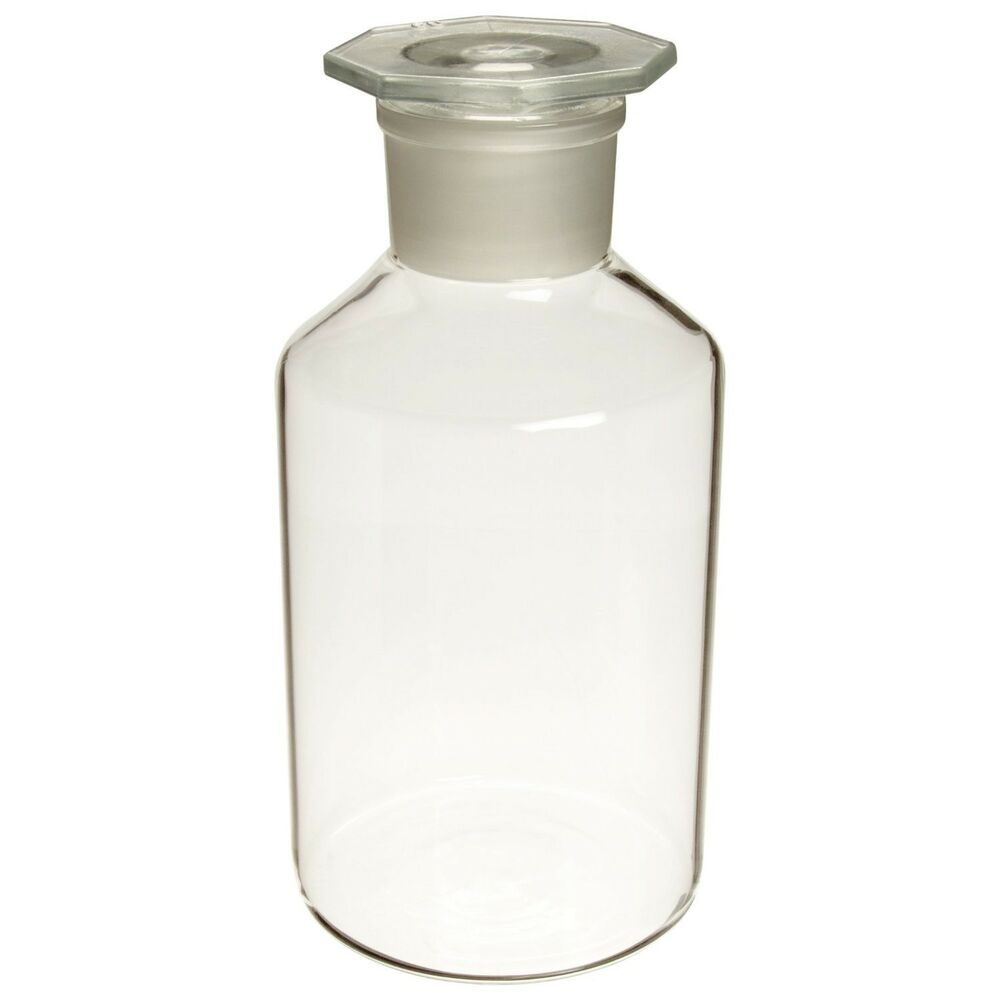 Glass Lab Reagent Bottle Narrow Mouth1000 Ml With Ground